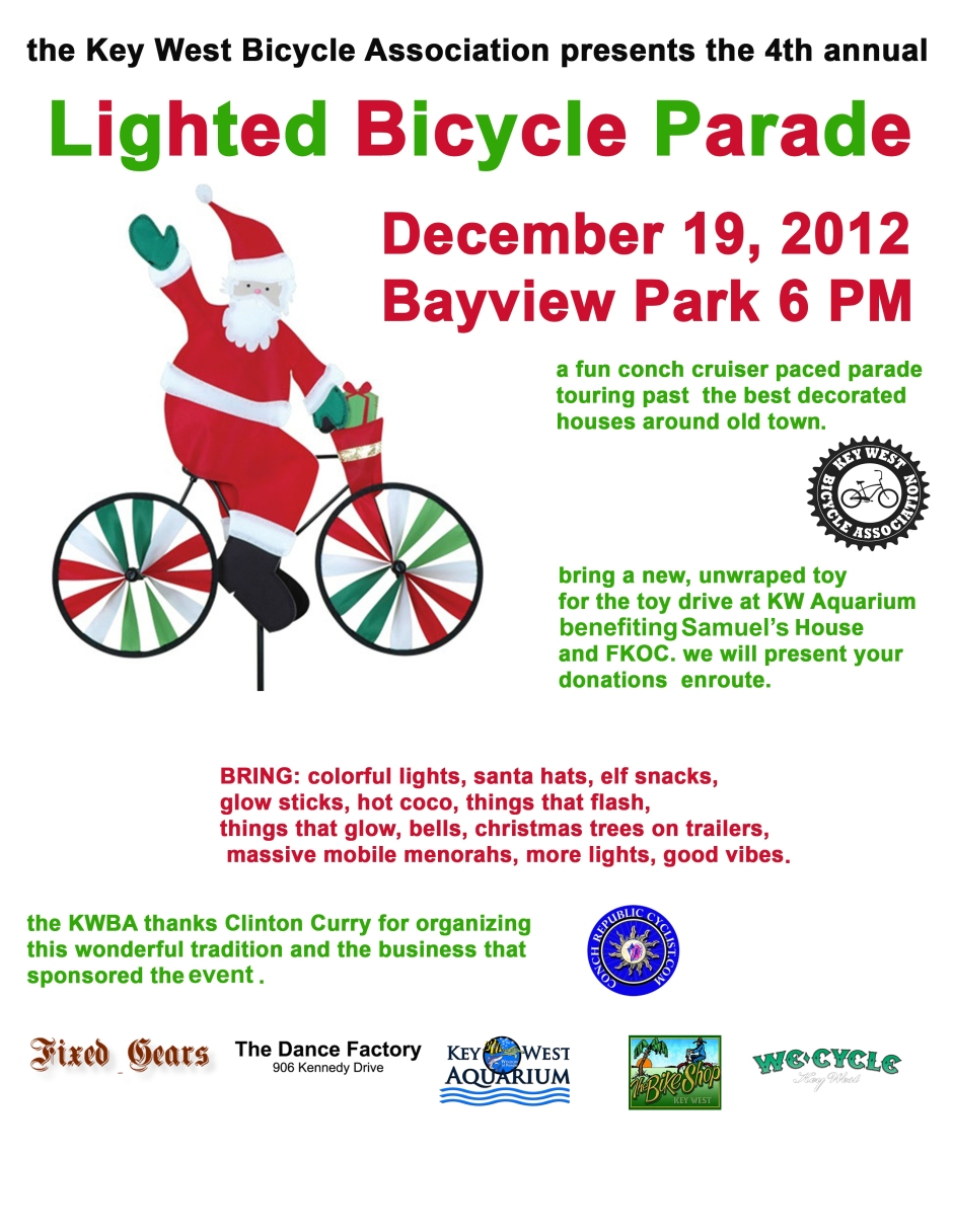 KW Holiday Lighted Bike Parade 2012